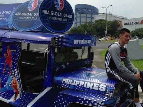 October 7, 2013 - Jeremy Lin sits on a jeepney in Manila, The Philippines