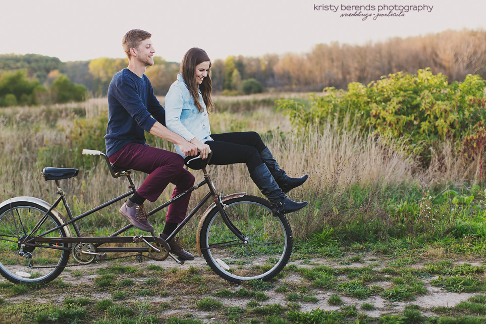 Vintage Tandem Bike Wedding