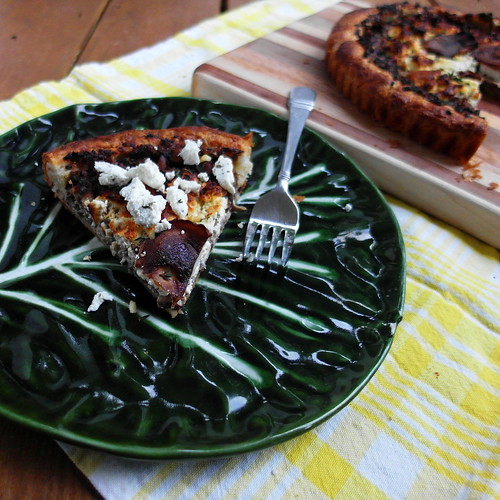 Baking by Hand: Mushroom, Thyme and Goat Cheese Tart
