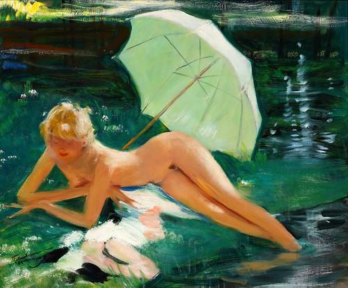015-Desnudo en el agua-Jean Gabriel Domergue