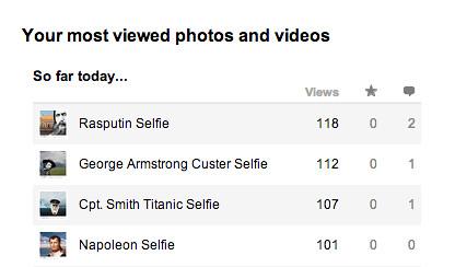 Historical Selfie Hits