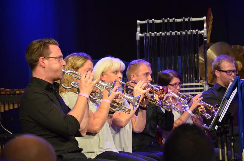 Brassbandfestivalen 2013 - Bakre kornettraden, Windcorp Brass Band (Foto: Olof Forsberg)