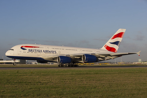 G-XLEB British Airways A380 LHR