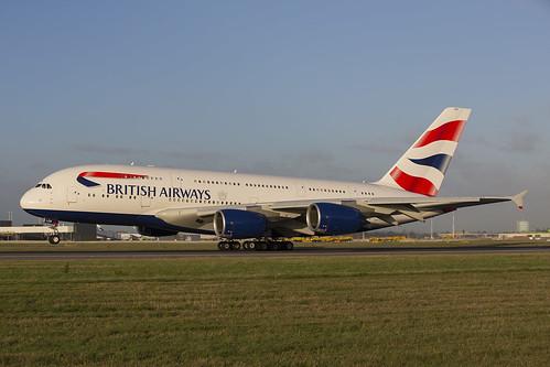 G-XLEB British Airways A380 LHR