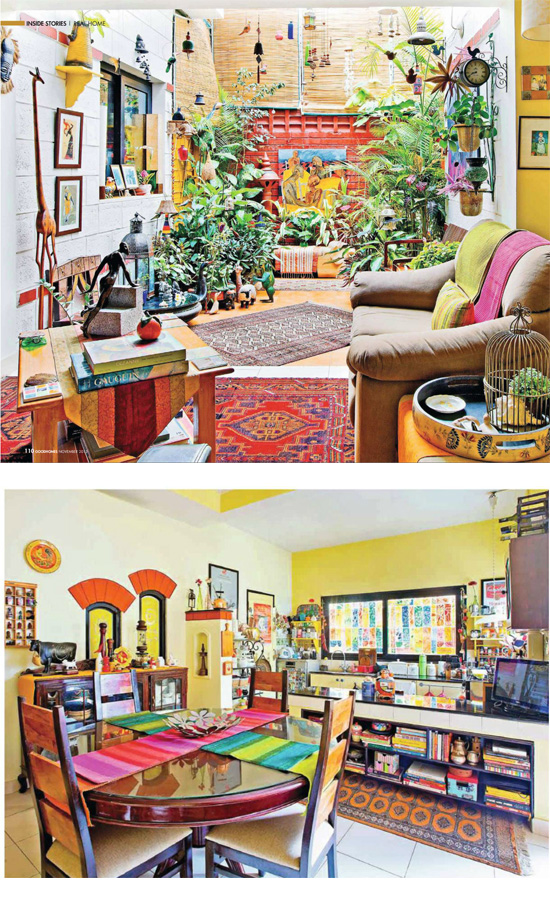 Menons 39 Colorful Home In Bangalore Dress Your Home