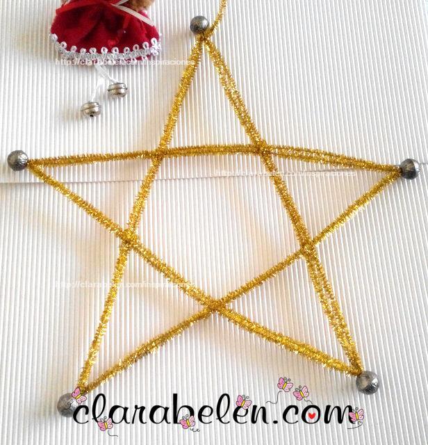 Inspiraciones manualidades y reciclaje manualidades - Manualidades de estrellas de navidad ...