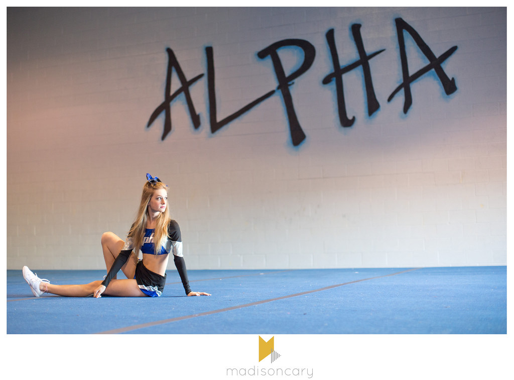senior girl alpha cheer portraits midland texas