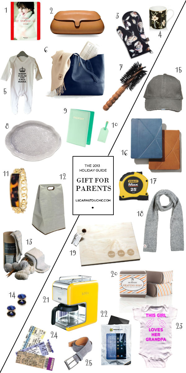 Gift guide: Parents