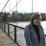 Sarah on a bridge
