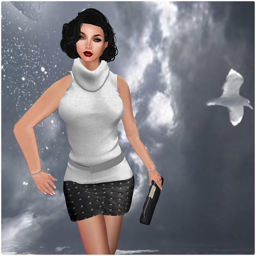 Dot-be dress Linde leather 2(wear me) by Orelana resident