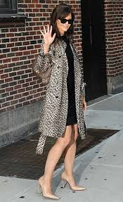 Katie Holmes Leopard Print Coat Celebrity Style Women's Fashion