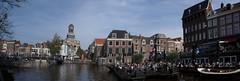 Panorama van de Rijn in Leiden