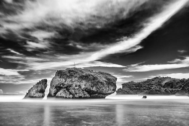 Kukup Beach on the Rocks