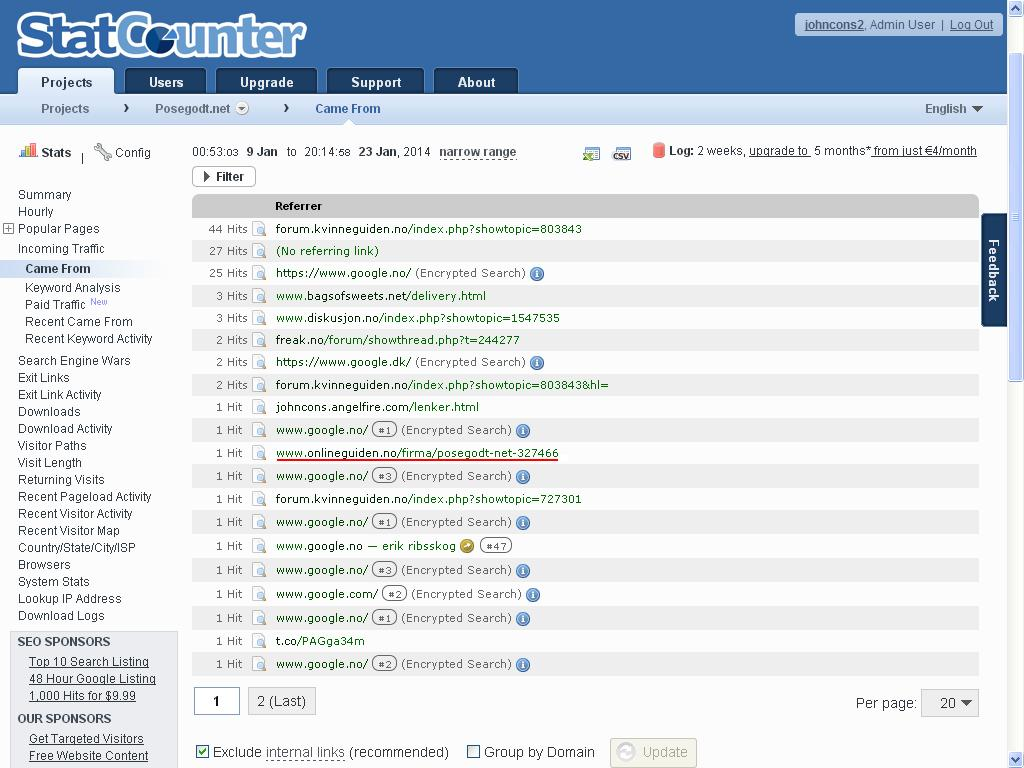 onlineguiden no statcounter