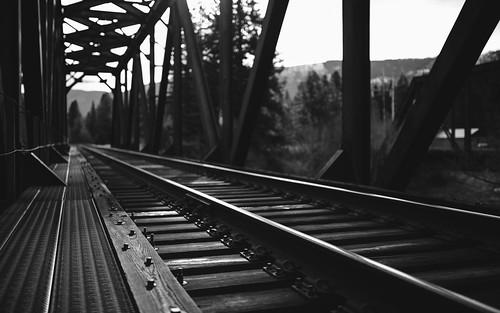 traintracks blackandwhite depthoffield bridge pacificnorthwest pnw canon rails canoneos5dmarkiii sigma35mmf14dghsmart johnwestrock