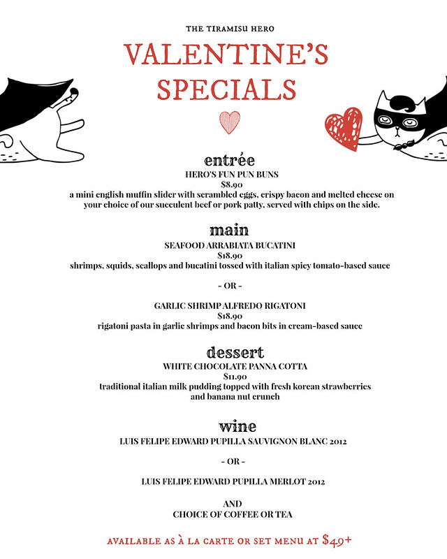 TTH Valentines Day Menu