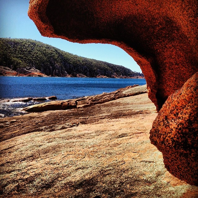 Granite boulders and water views #sleepybay #tasmania #camping #instatassie