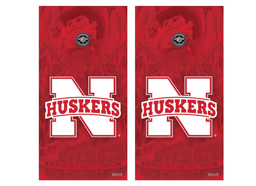 Nebraska Cornhole Game Decal Set