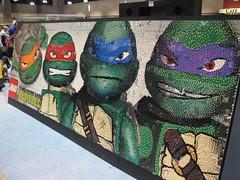 Teenage Mutant Ninja Turtles Lego mural at Lego KidsFest