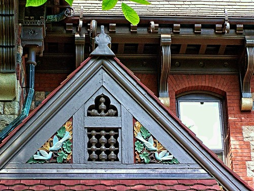 Hartford CT ~ Mark Twain House and Museum ~ Gable