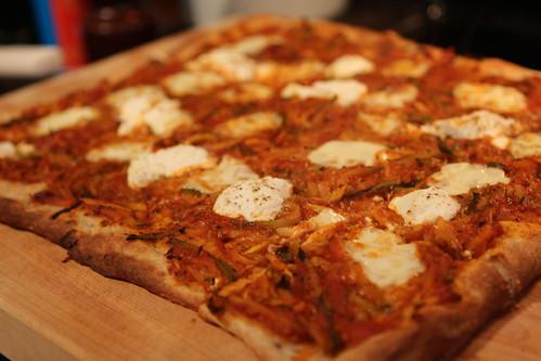 Julienned Zucchini Pizza