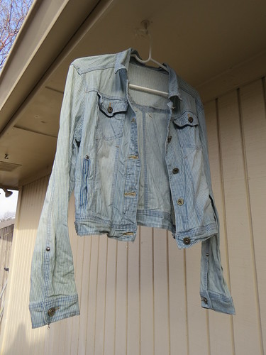 Bleached Denim Jacket - In Progress
