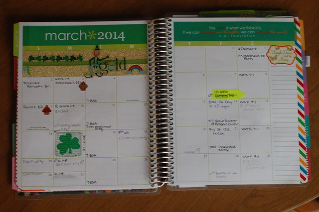My Erin Condren Planner - March 2014