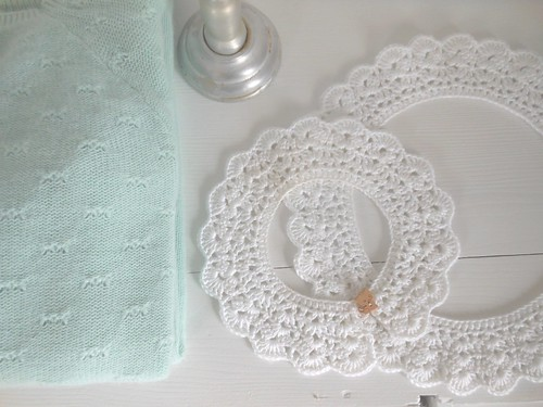 crochet white collars