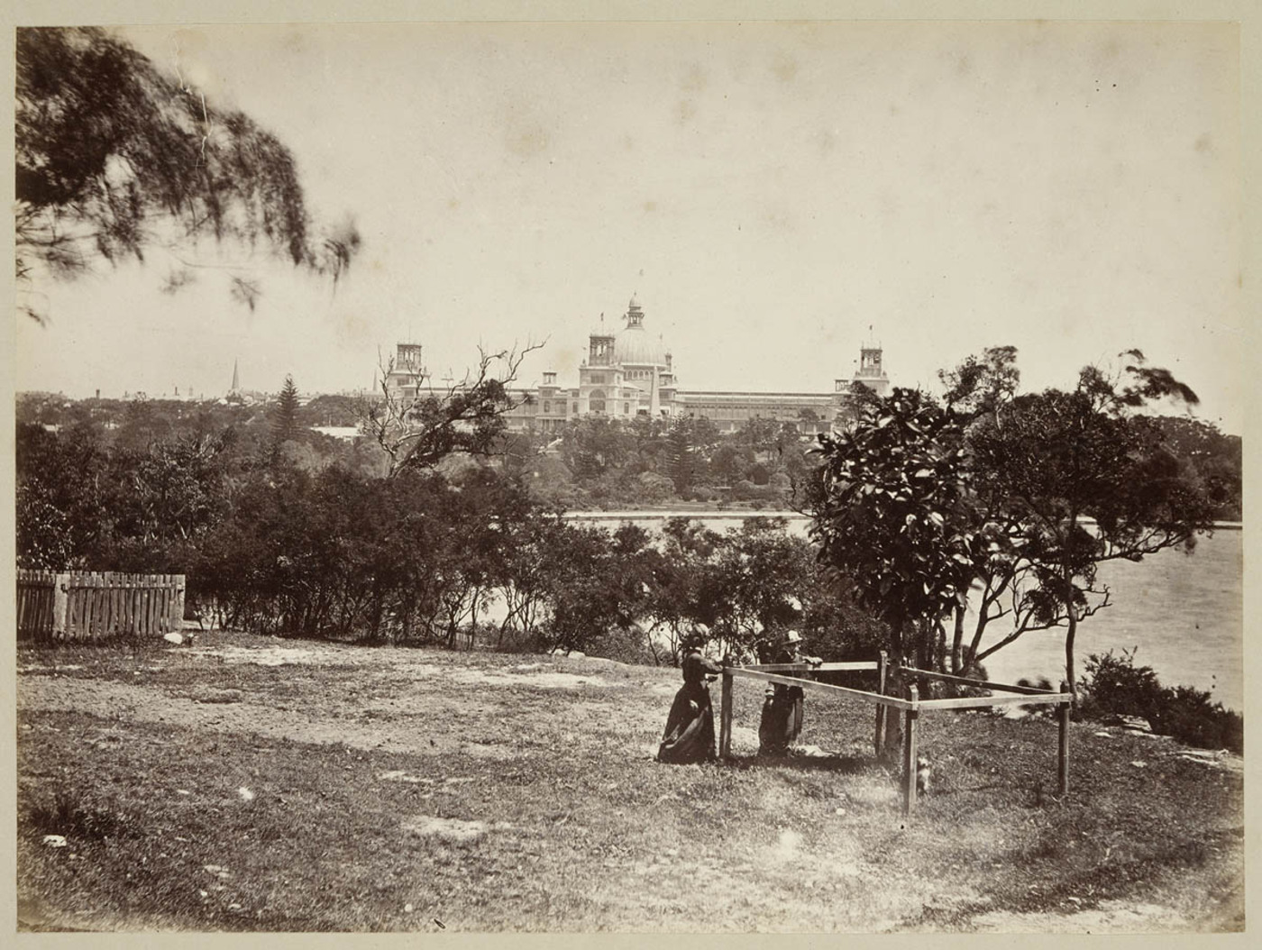 View from Mrs Macquarie's Point looking at Garden Palace c 1879, by Tronier Artist Photographer