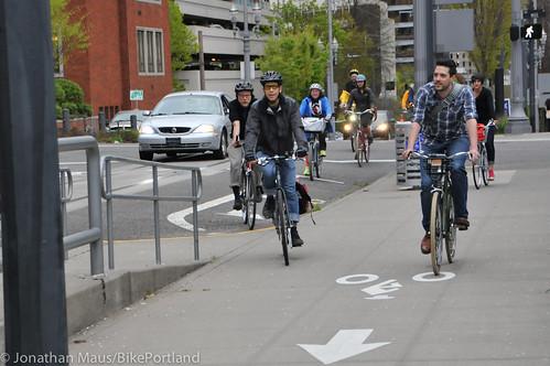 Bike Advisory Committee rides downtown-13