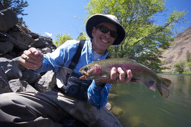 Keith Sherman with a nice Deschutes Rainbow