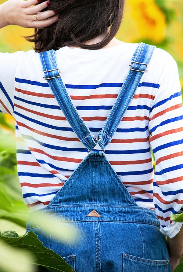 dungarees, denim overalls, striped shirt, אוברול ג'ינס, חולצת פסים, בלוג אופנה