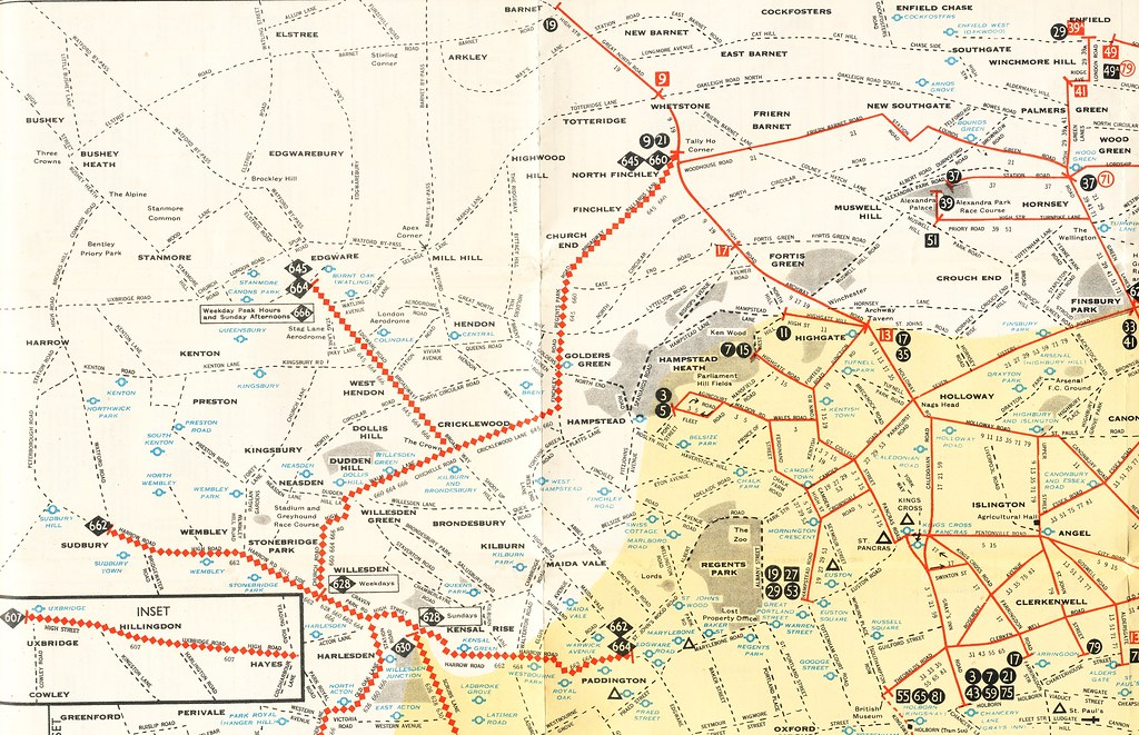 Map North West London.North West London London Transport Trolleybus Map No 1 Flickr