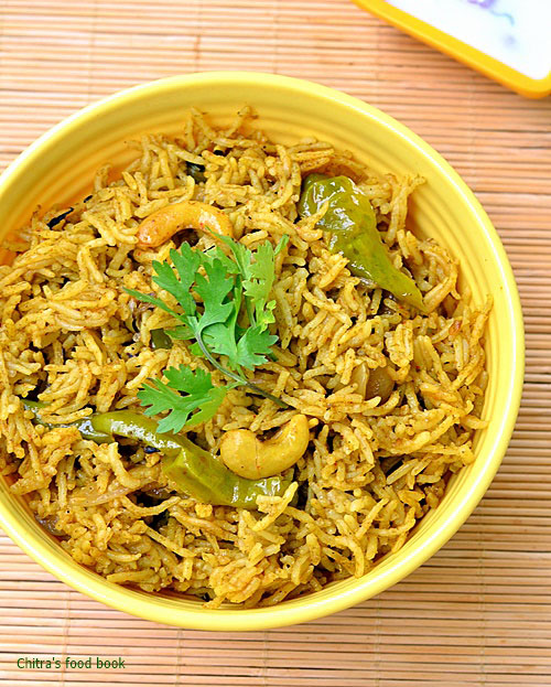 Coriander leaves biryani recipe