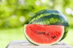 Fresh watermelon against natural background