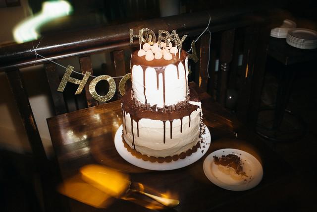 Our boozy Irish wedding cake