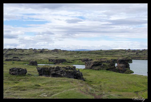 Pilares de lava Kálfastrandavogar