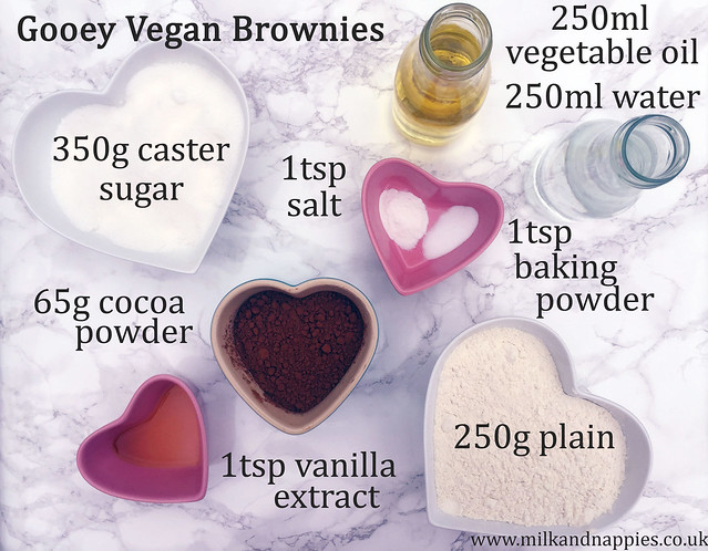 ingredients vegan brownies