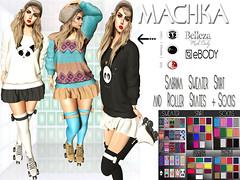 ~ϻ:Sabrina Sweater Skirt Roller Skates Socks 73 Texture Hud