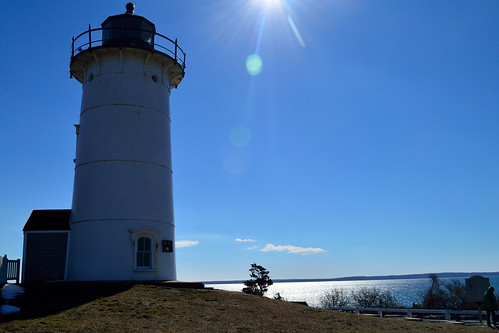 nikon d3200 project365 lighthouse sun flare sea sky blue usa ma falmouth