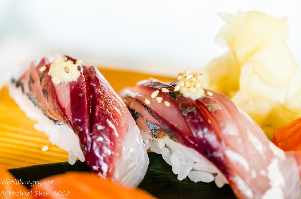 Sushi E horse mackerel nigiri