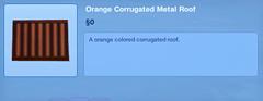 Orange Corrugated Metal Roof