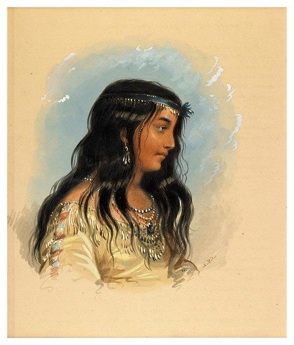 006-Mujer de la tribu de los cabezas planas-Alfred Jacob Miller-1858-1860-Walters Art Museum