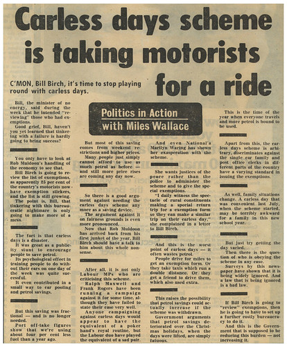 Many New Zealanders will remember the Carless Days...