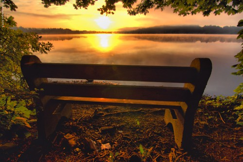 sunrise pa parkbench hdr a77 chestercounty marshcreekstatepark sonyalpha hdrextremes tokina1116mmf28