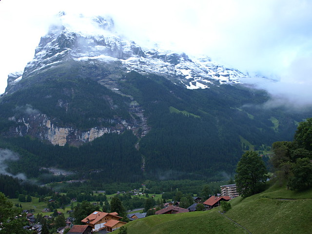 North face of Eiger and Grindelwald
