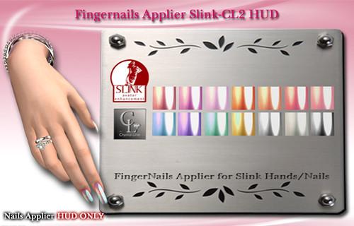 ((Crystal Line))-Fingernails Applier Slink-CL2 HUD POP