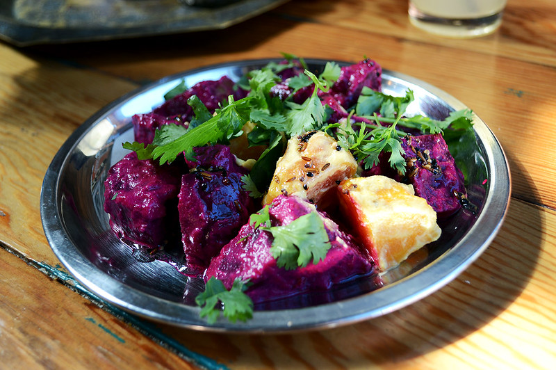 Roasted Beets in Coconut Milk and Curry Leaves