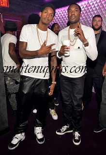 Meek Mill and Chris Brown wifey Karrueche Tran party @ Prive Night Club in Atlanta