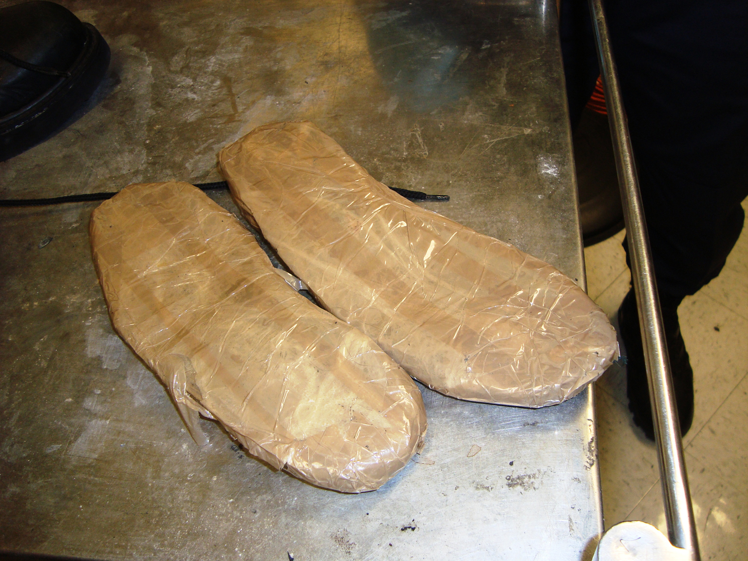 heroin smuggled in soles of boots